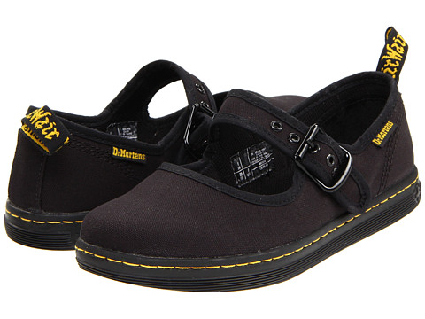 Dr. Martens - Carnaby Mary Jane (Black Canvas) Women's Maryjane Shoes