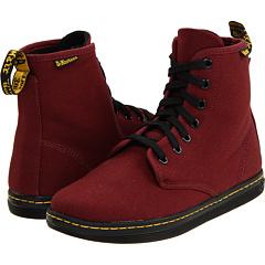Dr. Martens Shoreditch (Cherry Red Canvas) Footwear