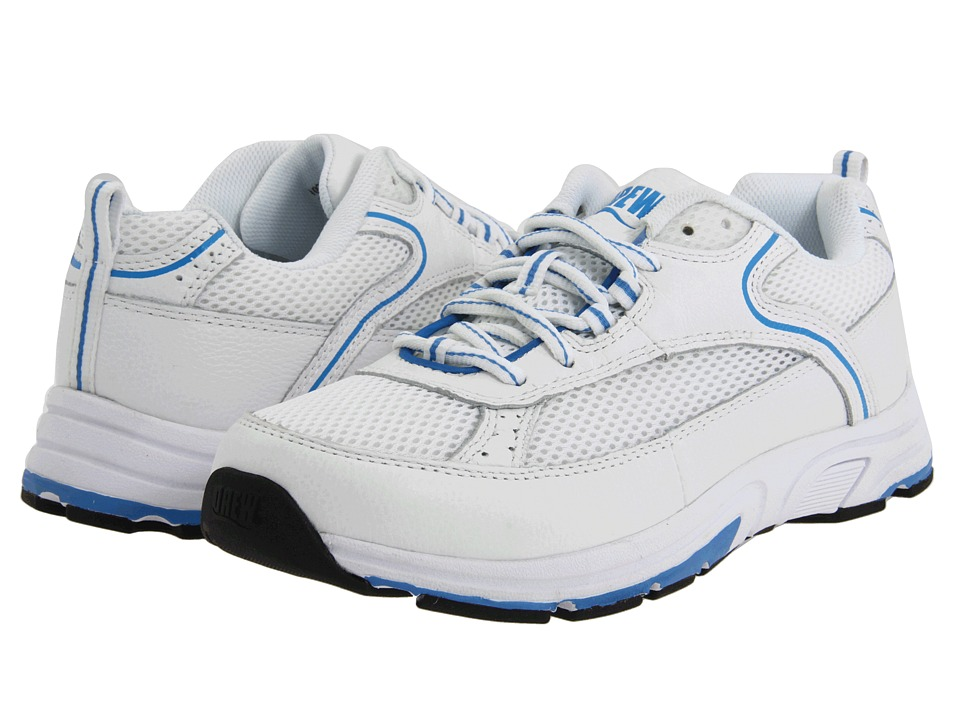 Drew - Athena (White/Blue Combo) Women's Shoes