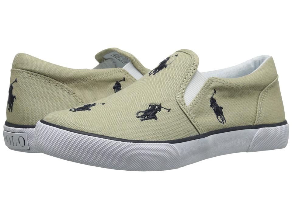 Polo Ralph Lauren Kids - Bal Harbour Repeat SS11 (Little Kid) (Khaki/Navy Canvas) Kid's Shoes