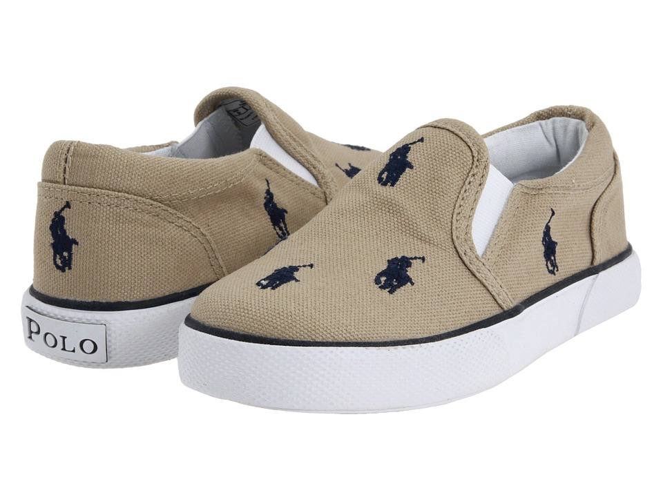 Polo Ralph Lauren Kids - Bal Harbour Repeat SS11 (Infant/Toddler) (Khaki/Navy Canvas) Boys Shoes