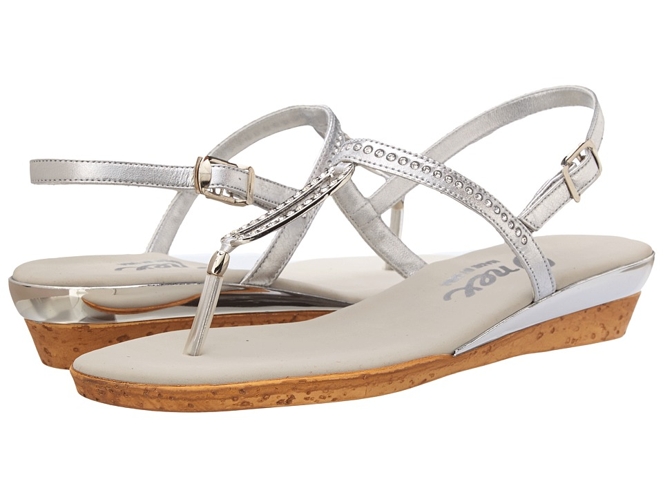 Onex - Cabo (Silver Leather) Women's Dress Sandals
