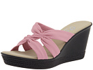 Onex Felicity (Pink Leather) Women's Wedge Shoes