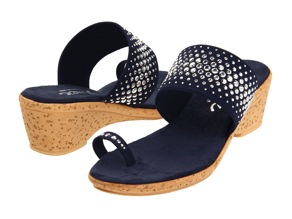 Onex - Ring (Navy Elastic) Women's Wedge Shoes