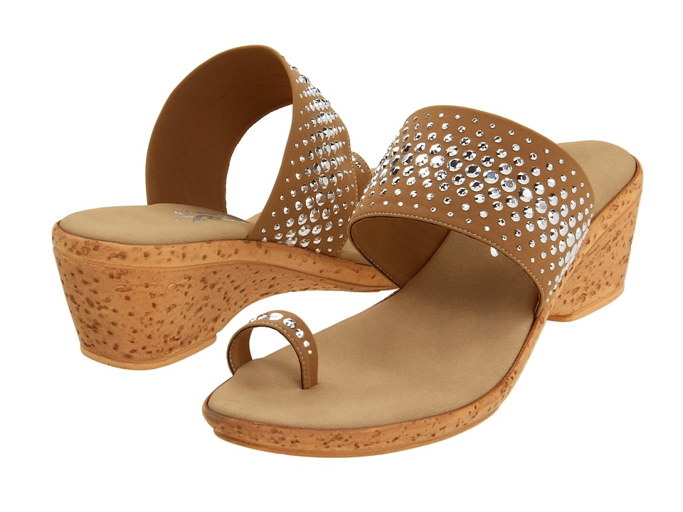 Onex - Ring (Tan Elastic) Women's Wedge Shoes