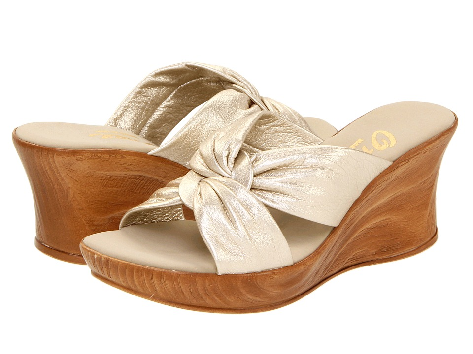 Onex - Puffy (Platinum Leather) Women's Wedge Shoes