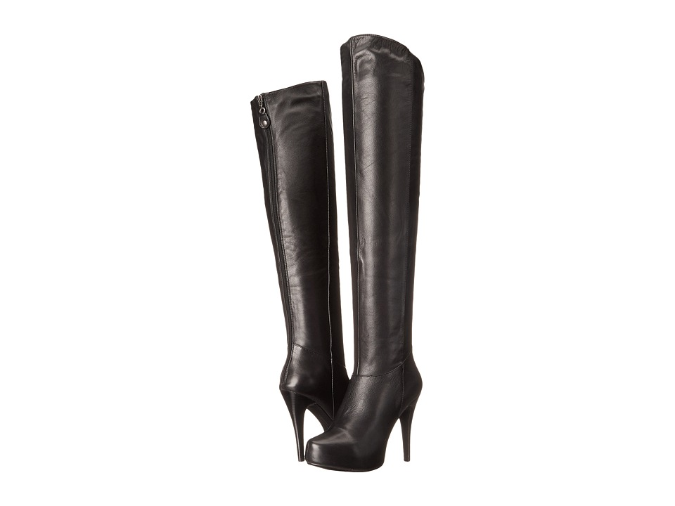 Chinese Laundry - Preston (Black Leather) Women's Boots