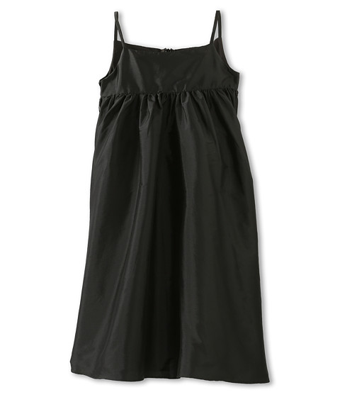 Us Angels - Silky Taffeta Empire Dress (Little Kids) (Black) Girl