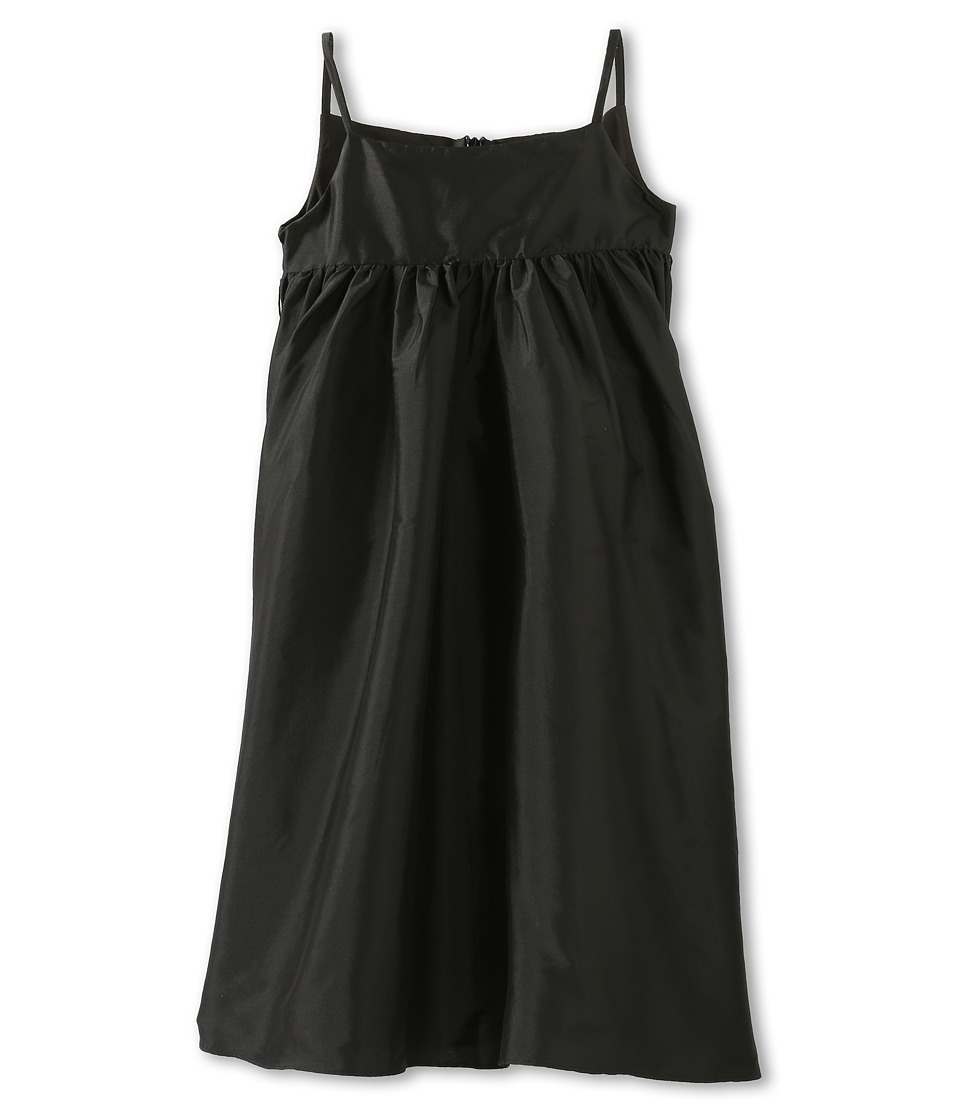 Us Angels - Silky Taffeta Empire Dress (Toddler) (Black) Girl