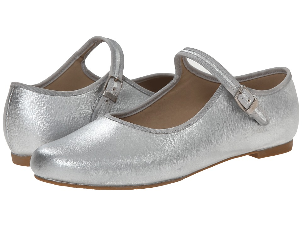 Elephantito - Mj W/ Piping (Toddler/Little Kid/Big Kid) (Silver) Girl's Shoes