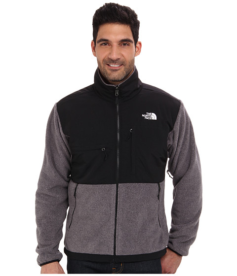 The North Face - Denali Jacket (R Charcoal Grey Heather/TNF Black) Men