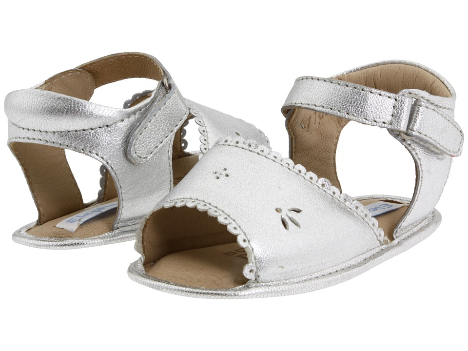 Elephantito - Sandal W/ Scallop (Infant/Toddler) (Silver) Girl's Shoes