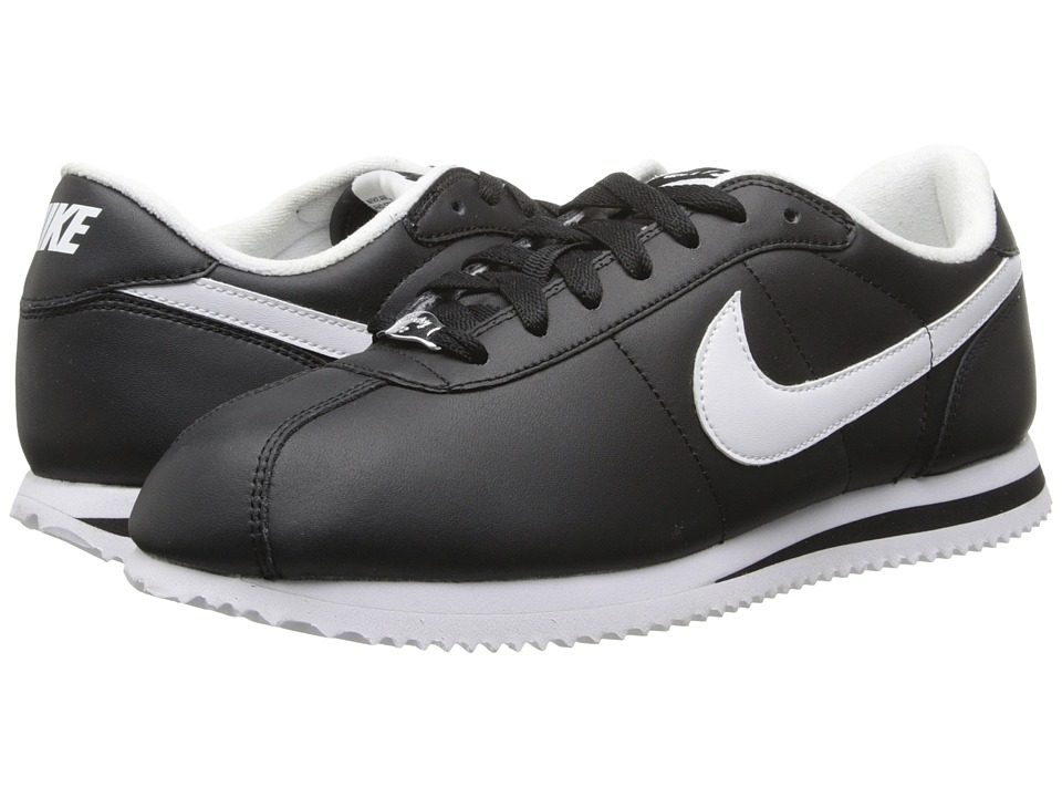 Nike - Cortez Leather (Black/White/White) Men's Shoes