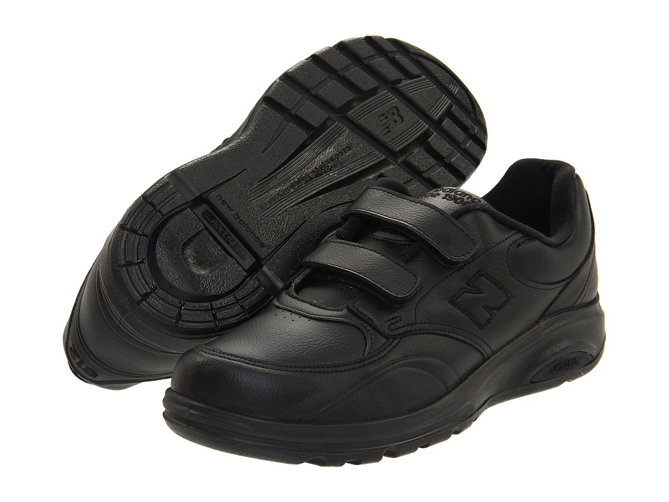 New Balance - MW812 Hook-and-Loop (Black) Men's Walking Shoes