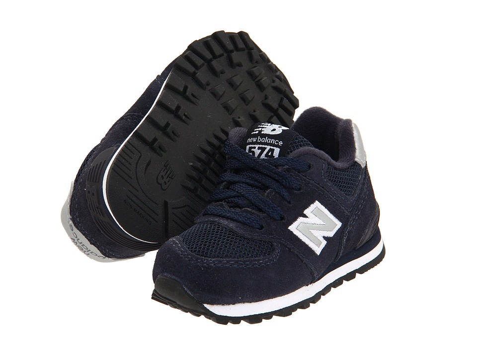 New Balance Kids - KL574 (Infant/Toddler) (Navy) Kids Shoes
