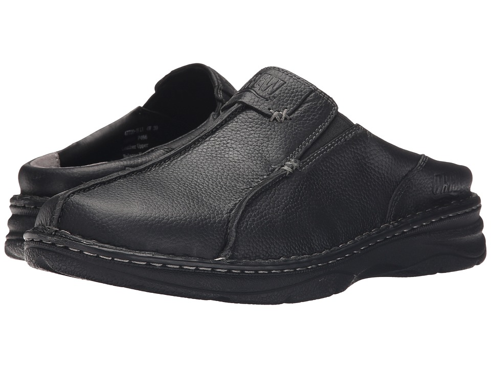 Drew - Gabriel (Black Tumbled Leather) Men's Clog Shoes