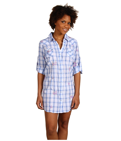 Roper - Paradise Found Tunic Shirt Dress (Blue Plaid) Women
