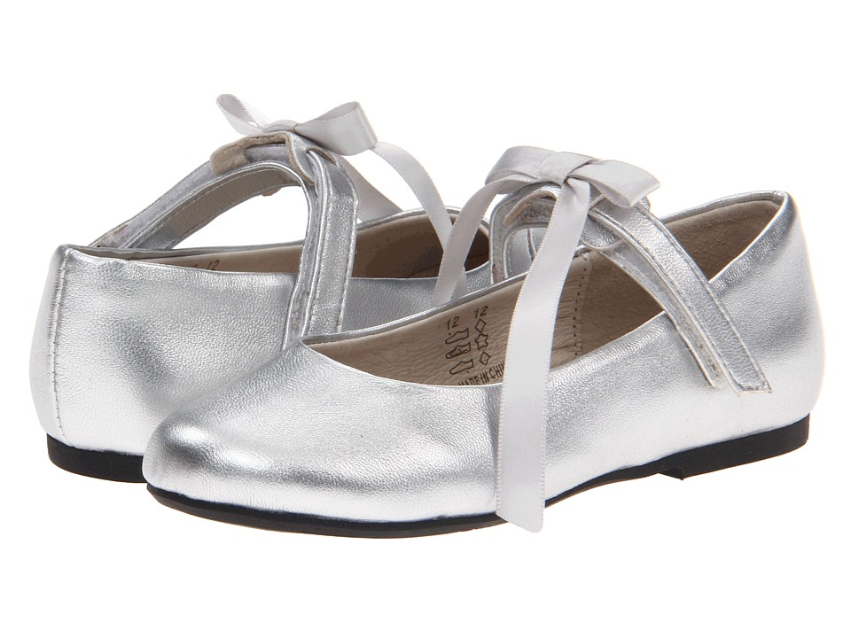 Pazitos - Classic Ballerina MJ PU (Toddler/Little Kid) (Silver Metallic) Girls Shoes