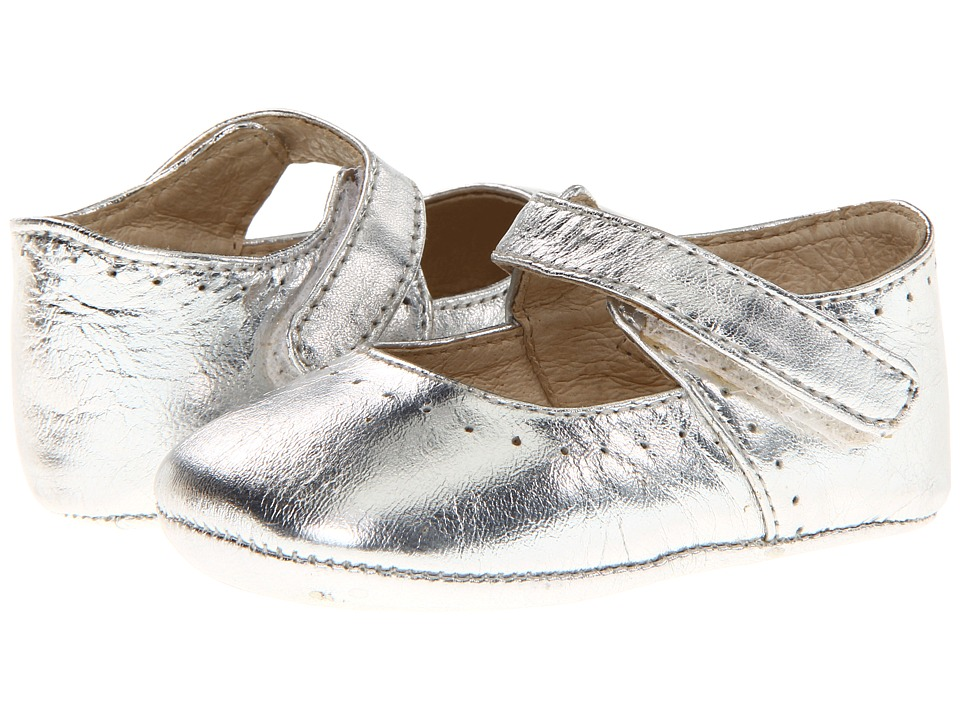 Pazitos - Sweet Mary Jane (Infant/Toddler) (Silver Metallic) Girls Shoes