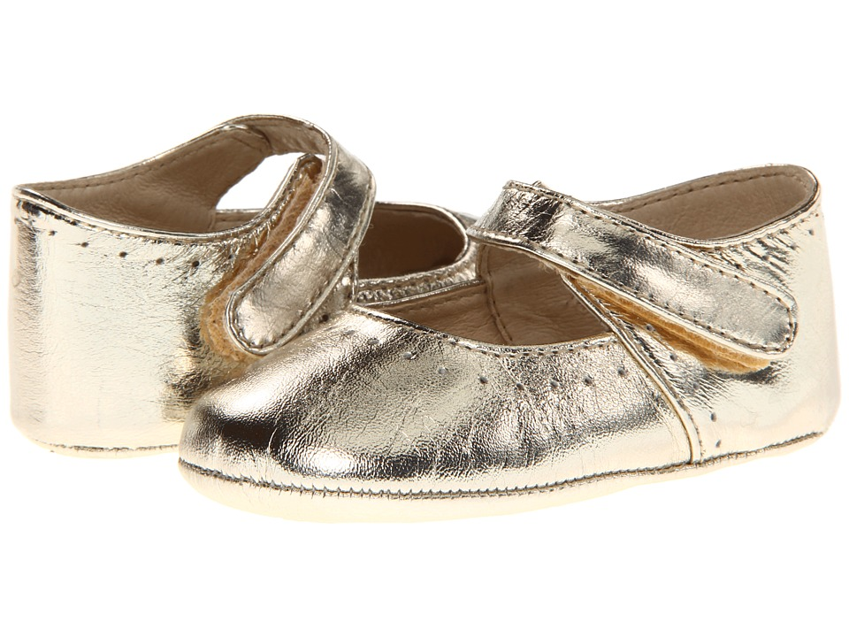 Pazitos - Sweet Mary Jane (Infant/Toddler) (Gold Metallic) Girls Shoes