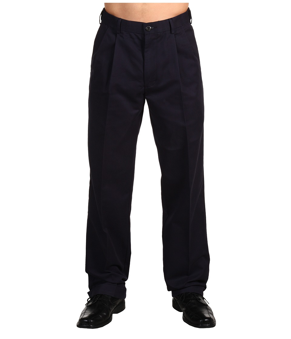 Dockers Men's - Comfort Khaki D4 Relaxed Fit Pleated (Navy) Men's Casual Pants