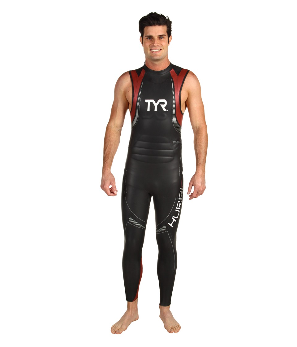 TYR - Hurricane C5 S/L Wetsuit (Black/Red) Men's Wetsuits One Piece