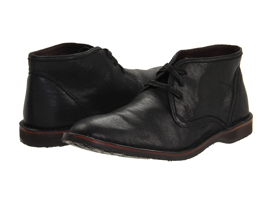 John Varvatos - Hipster Chukka (Black Calfskin) Men's Lace-up Boots