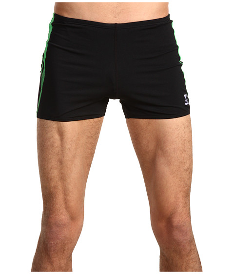 TYR - Alliance Durafast Splice Square Leg (Black/Green) Men's Swimwear