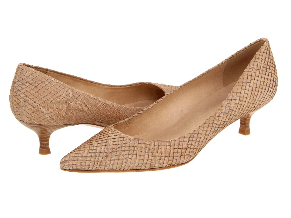 Stuart Weitzman - Poco (Tan Wood Snake) Women's Slip-on Dress Shoes