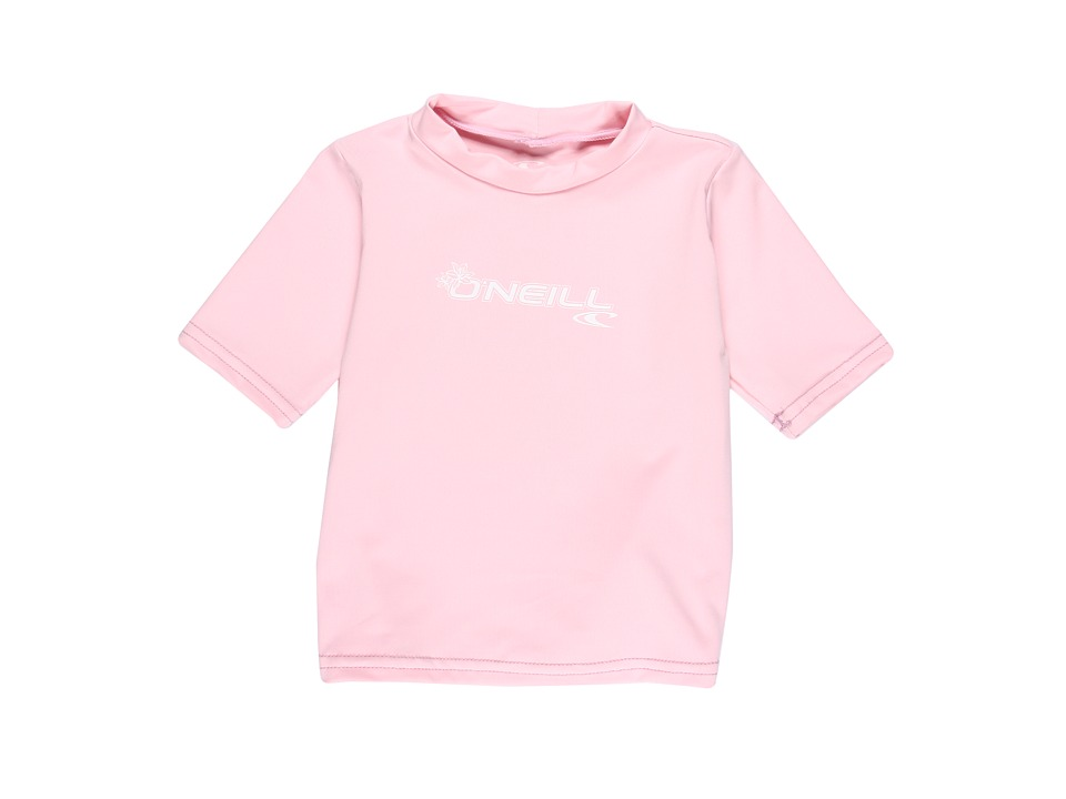 O'Neill Kids - Basic Skins S/S Rash Tee (Toddler) (Pink) Boy's Swimwear