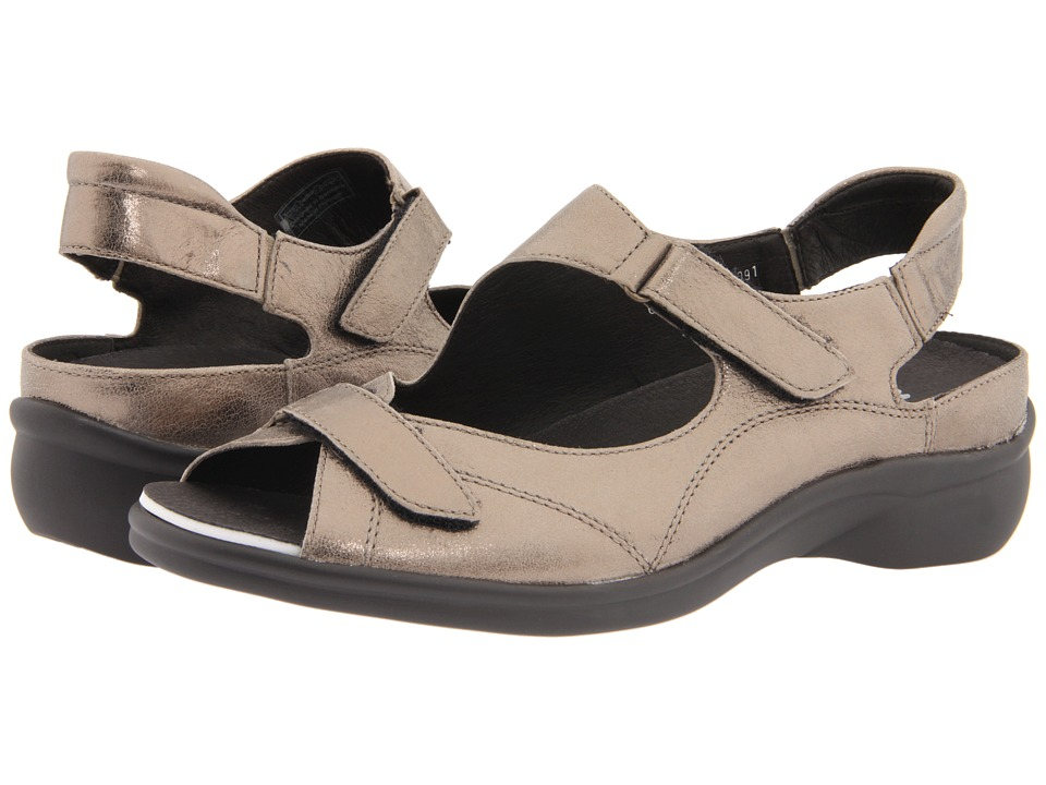 ara - Maya (Pewter Metallic Leather) Women's Sandals