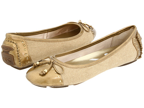 Anne Klein - Buttons (Natural Linen Material) Women's Flat Shoes