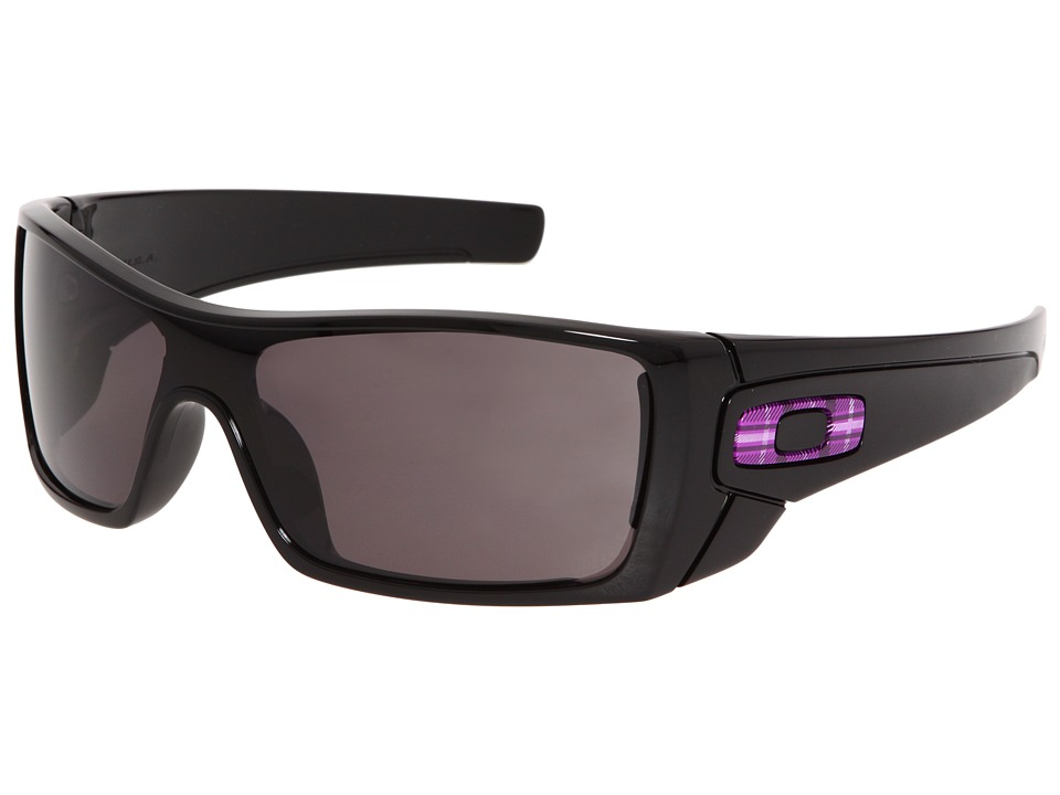 Oakley - Batwolf (Polished Black/Warm Grey) Sport Sunglasses