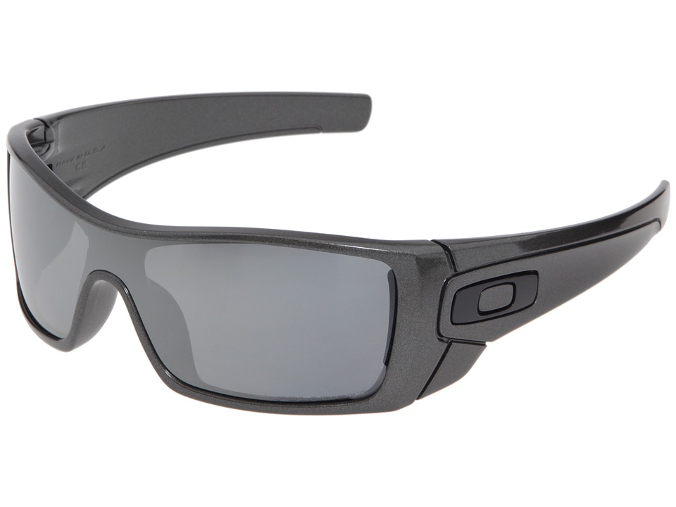 Oakley - Batwolf Polarized (Granite/Black Iridium Polarized) Sport Sunglasses