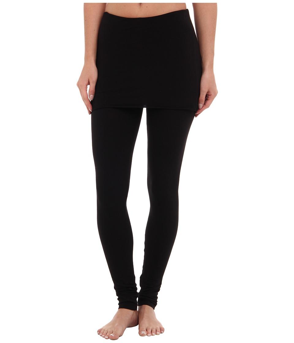 Splendid - Jersey Legging w/ Oversized Foldover Waist (Black) Women's Clothing