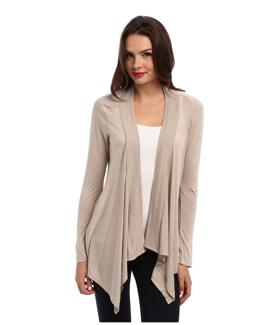 Splendid - Very Light Jersey Drape Cardigan (Almond) Women's Sweater