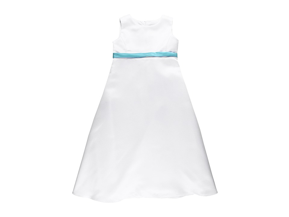 Us Angels - Skinny Satin Sash (Toddler) (Pool) Girl's Belts