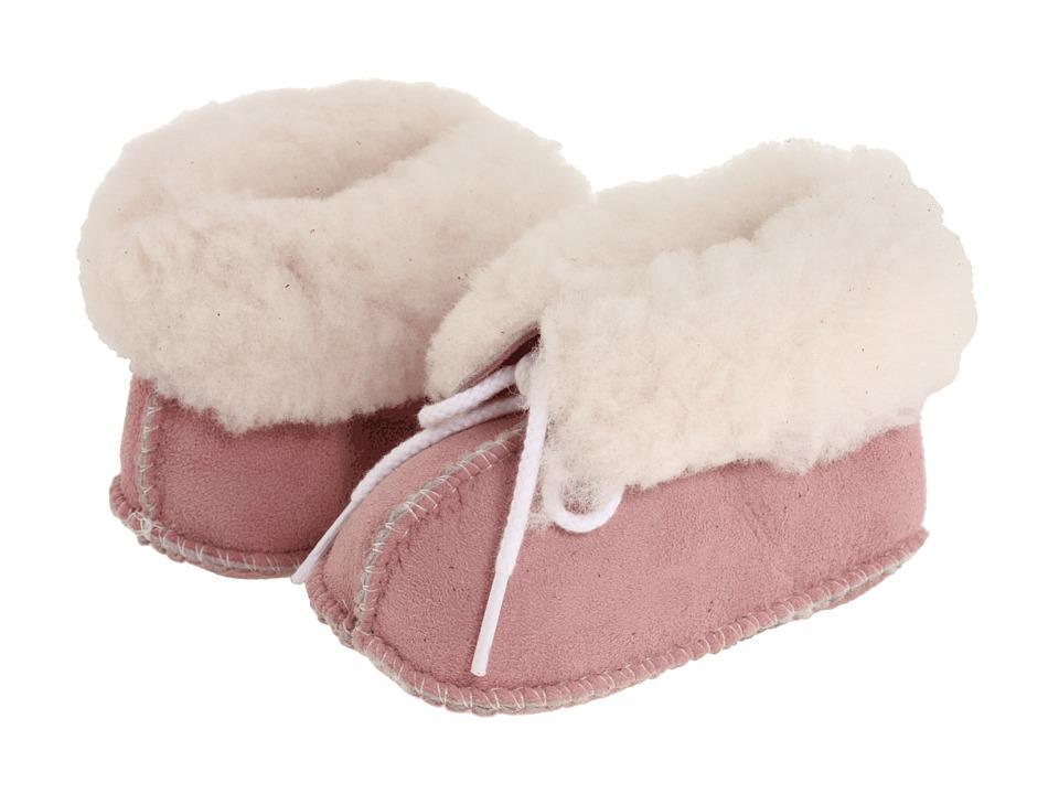 Minnetonka Kids Genuine Sheepskin Bootie (Infant/Toddler) (Pink Sheepskin) Girls Shoes