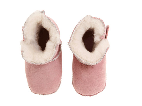 Minnetonka Kids - Genuine Sheepskin Pug Boot (Infant/Toddler) (Pink Sheepskin) Girls Shoes