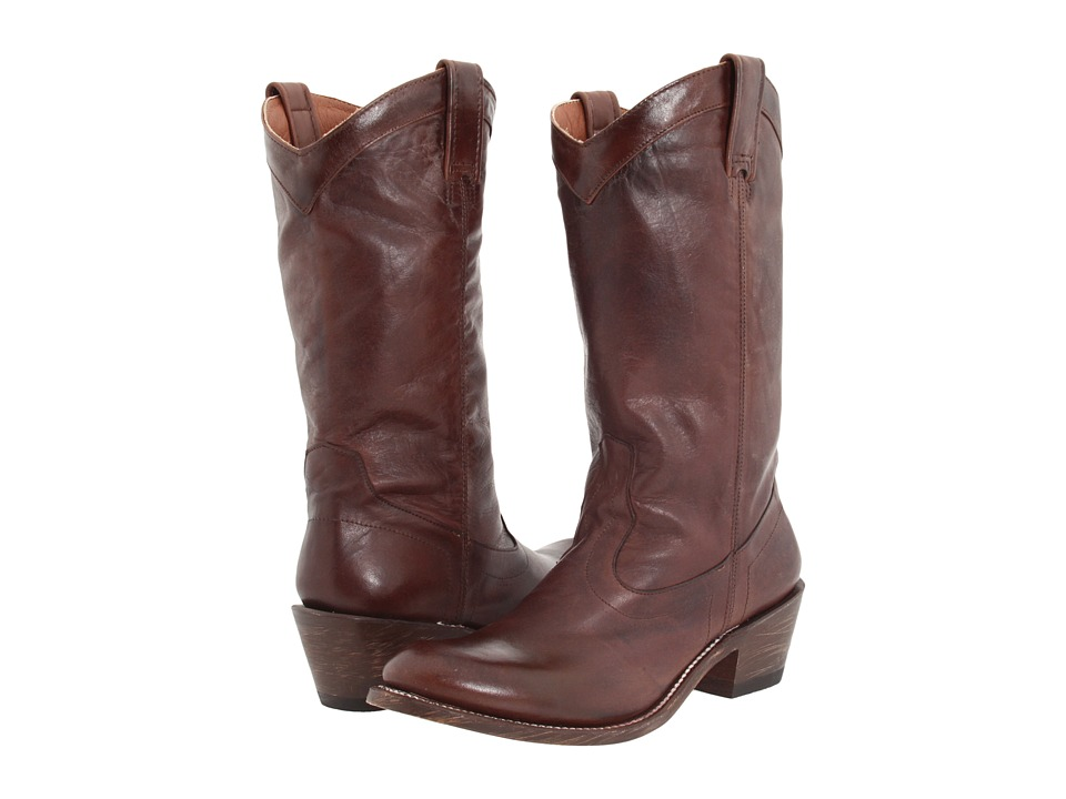 Stetson - 11 Rustic (Ficcini Brown) Cowboy Boots