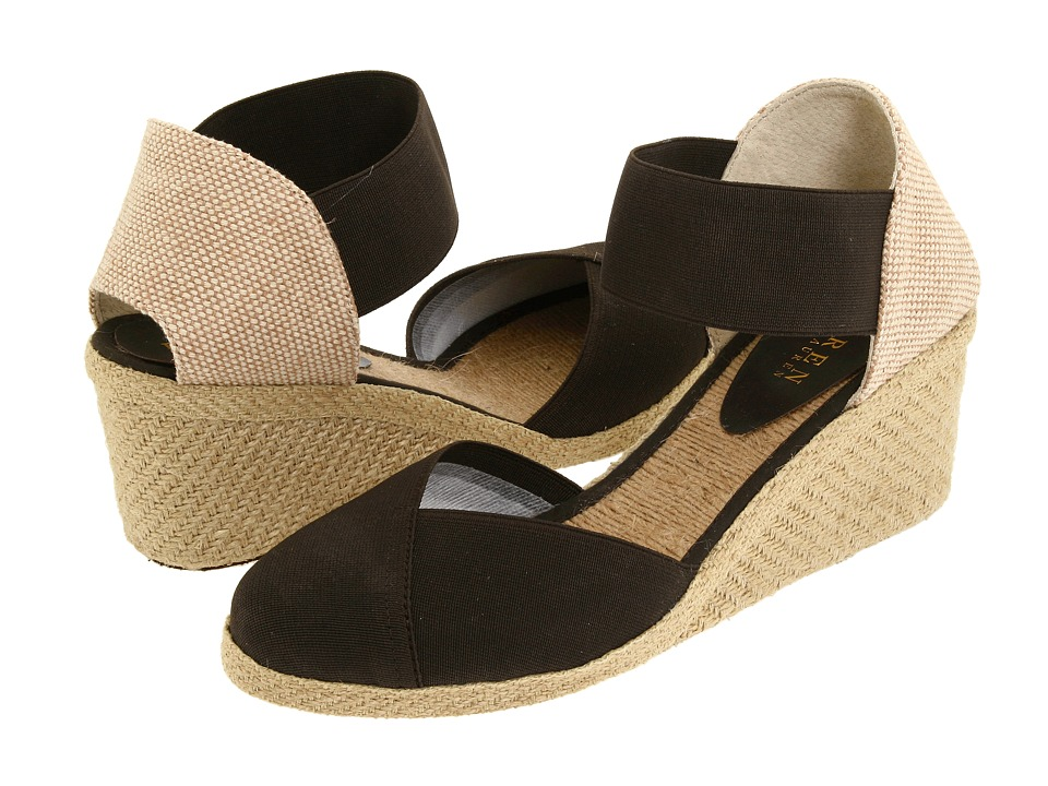 LAUREN by Ralph Lauren - Charla (Dark Brown) Women's Wedge Shoes