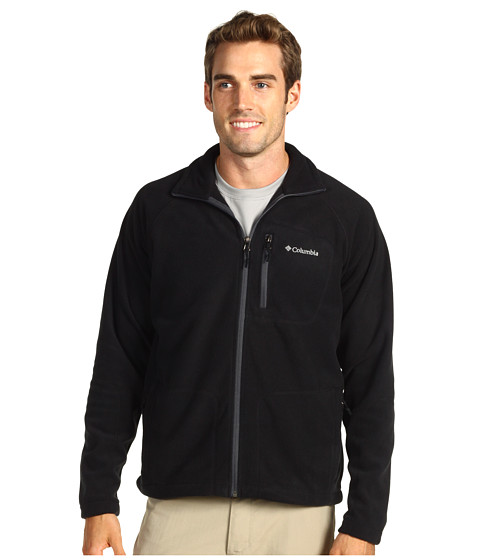 Columbia - Fast Trek II Full-Zip Fleece Jacket (Black) Men