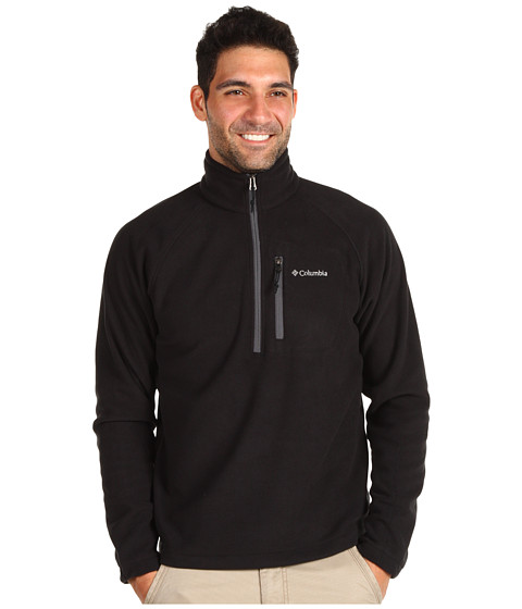 Columbia - Fast Trek II Half Zip Fleece (Black) Men