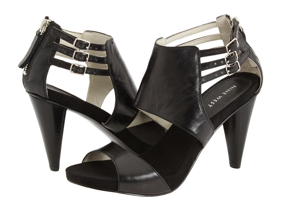 Nine West - Sweetiepie (Black Leather) Women's Dress Sandals