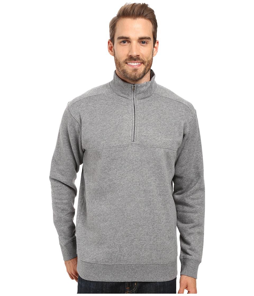 Columbia - Hart Mountain II Half Zip (Charcoal Heather) Men's Jacket