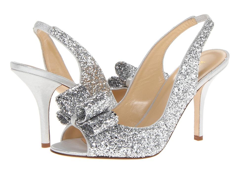 Kate Spade New York Charm Heel Womens Dress Sandals (Silver)