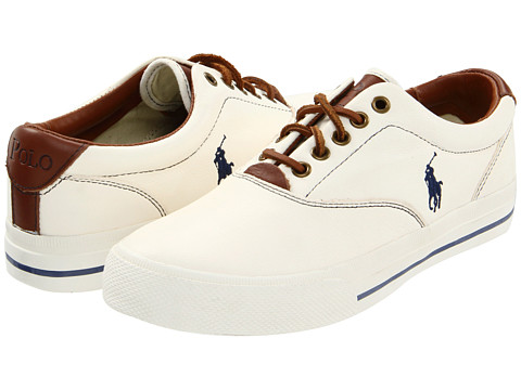 Polo Ralph Lauren - Vaughn (White Leather) Men's Lace up casual Shoes