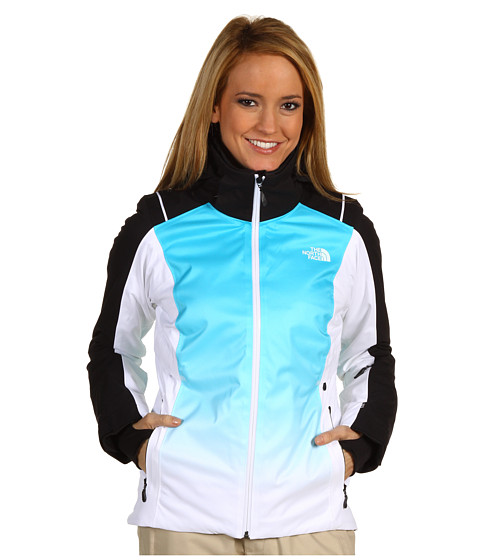 The North Face - Geneve Jacket (TNF White/Turquoise Blue Dip Dye) Women's Jacket
