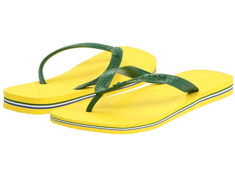 Havaianas Brasil Flip Flops (Citrus Yellow) Men