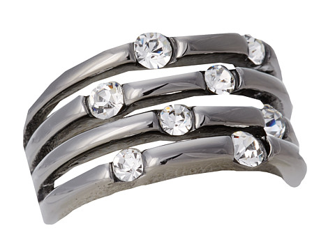 GUESS - 18237-21C (Crystal/Gunmetal) Ring